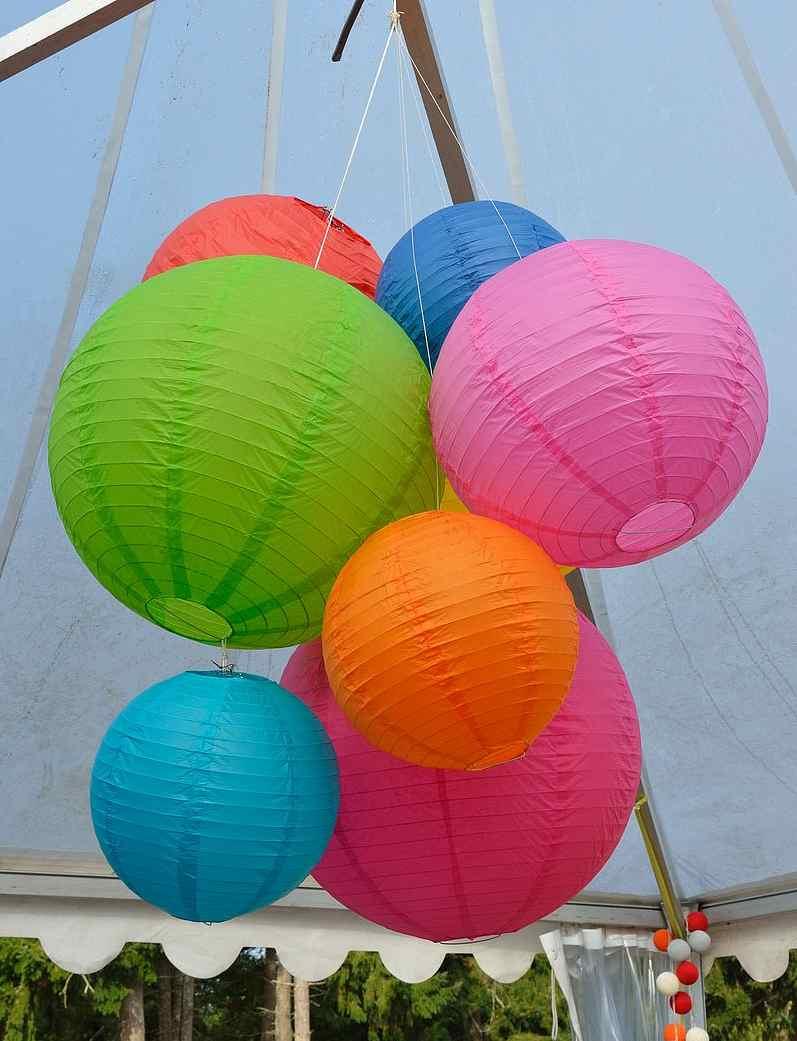 Boules chinoises décoration tente