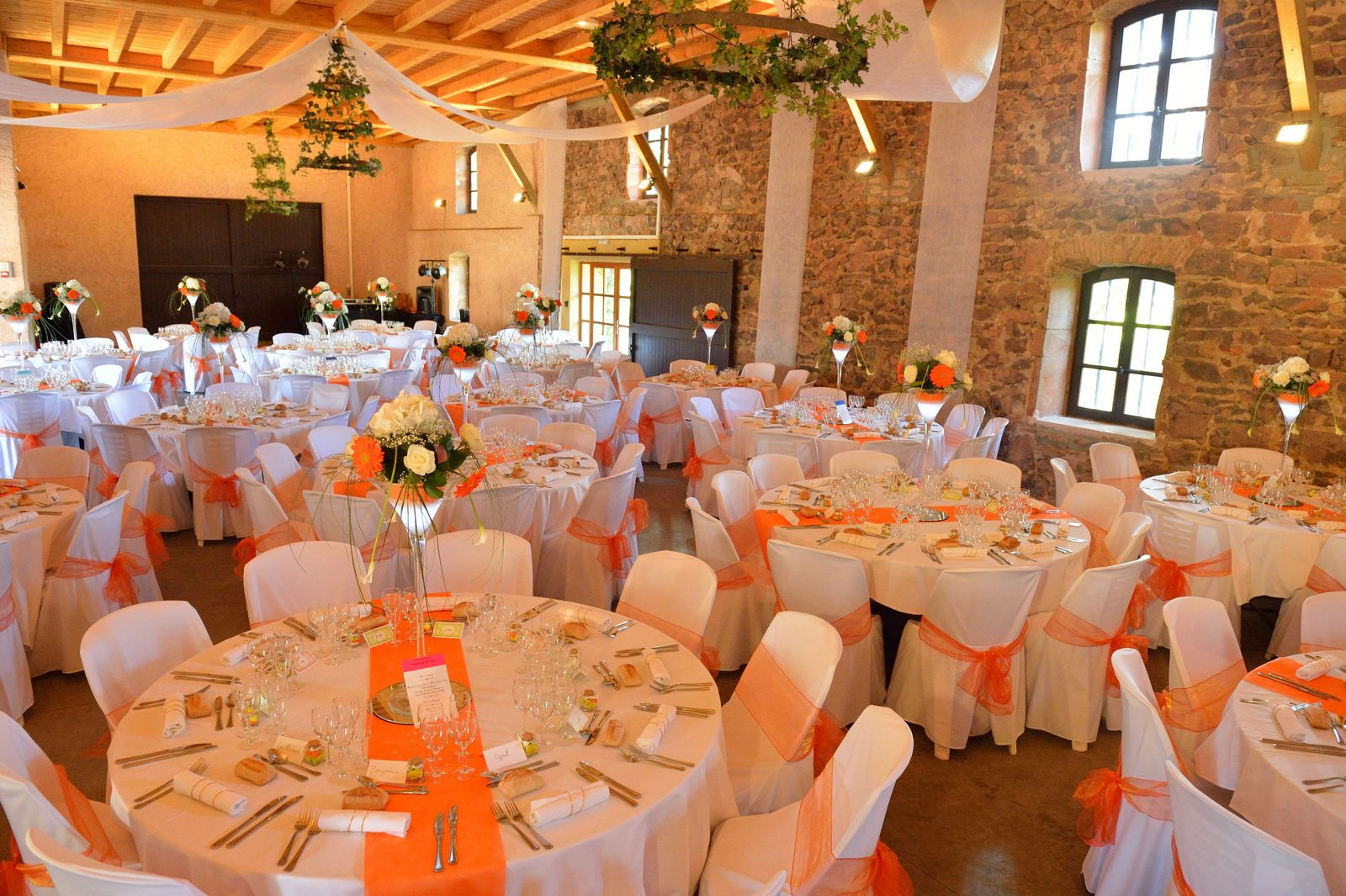 Housses de chaises au Chateau d'Ailly