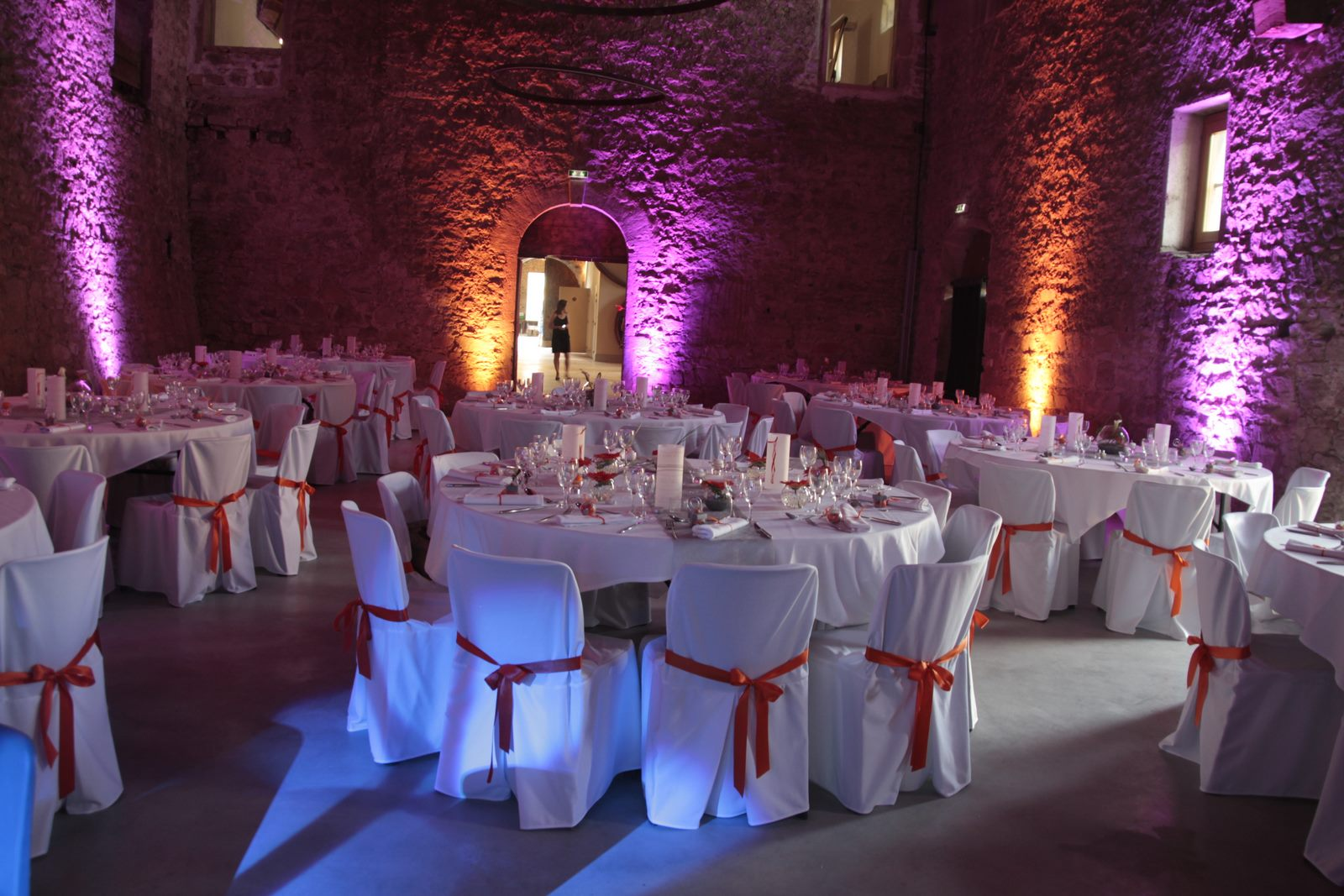 Housses de chaises au Chateau de la Gallée